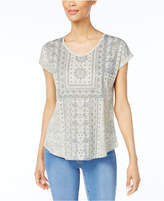 Style&Co. Style & Co Style & Co Petite Printed T-Shirt, Created for Macy's