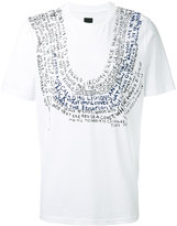 Oamc text print T-shirt - men - Cotton - S