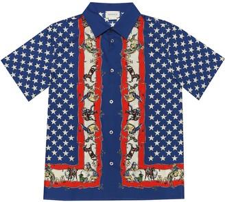 Gucci Kids Printed cotton shirt