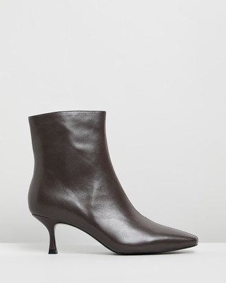 Mae London Leather Ankle Boots