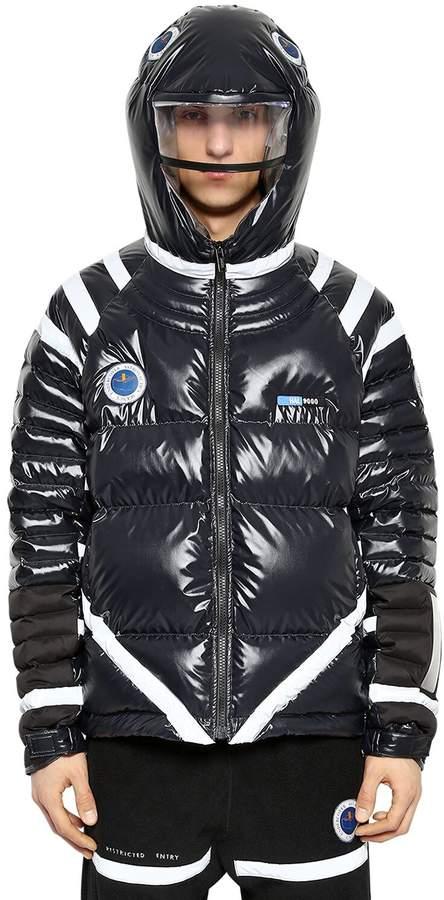 Undercover Hooded Nylon Down Jacket W/ Led Light