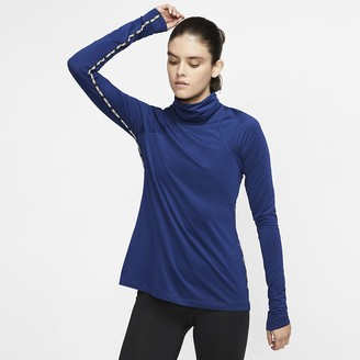 Nike Womens Long-Sleeve Metallic Top Pro Warm
