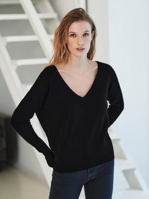 White + Warren Cashmere Two Way Sweater