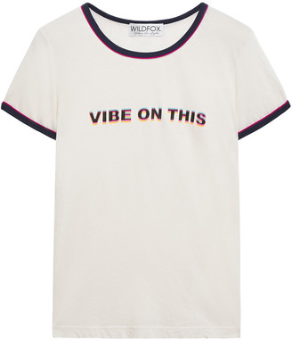 Wildfox Couture Printed Cotton-jersey T-shirt