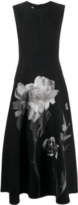 Valentino Sleeveless Floral Print Dress