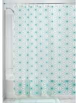 """InterDesign Geo Star Waterproof Mold/Mildew-Resistant PEVA 4.8 Gauge Shower Curtain, 72"""" x 72"""" – Teal"""