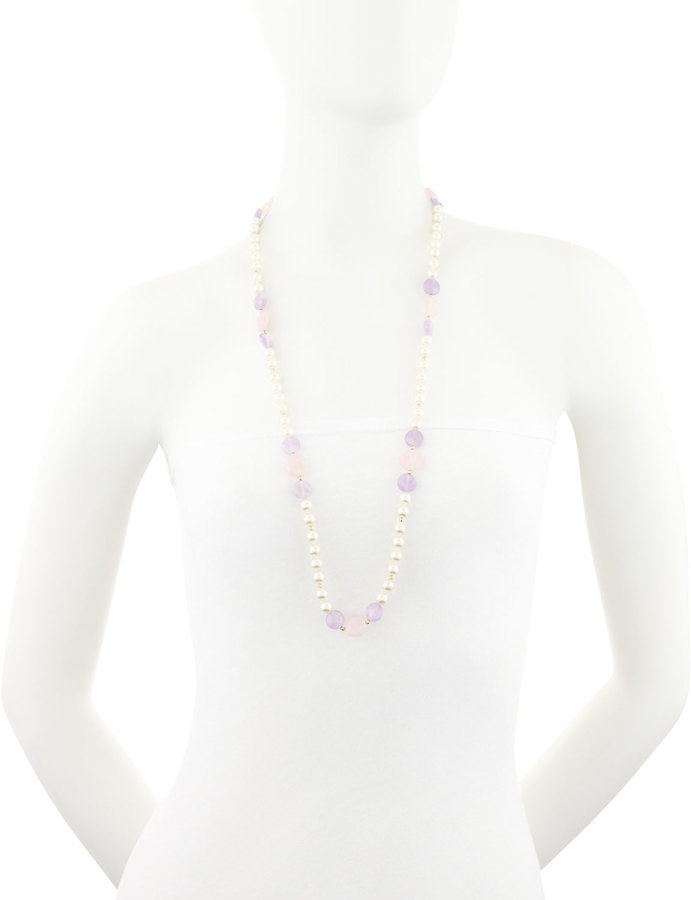 Majorica Pearl and Mixed-Stone Necklace
