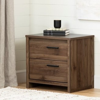 Tao 2 Drawer Nightstand South Shore Color: Natural Walnut