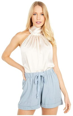 Bishop + Young Tie Neck Top (Natural) Women's Clothing