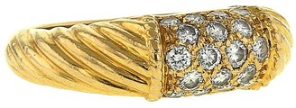 Van Cleef & Arpels 1980s pre-owned yellow gold Philippine diamond ring