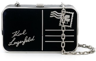Karl Lagerfeld Paris K/Postcard velvet minaudiere