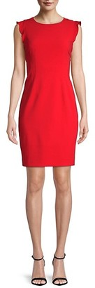 T Tahari Stefana Cap-Sleeve Sheath Dress