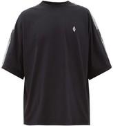 Marcelo Burlon County of Milan Sleeve-striped Cotton T-shirt - Mens - Black White