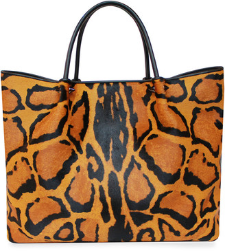 Pellegrino Wilfred Animal-Print Fur Tote Bag