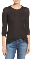 AG Jeans Women's Logan Ribbed Cotton Cashmere Tee