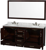 WYNDHAM COLLECTION Wyndham Collection Sheffield 72 inch Double Bathroom Vanity