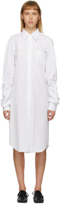 Comme des Garcons White Cut-Out Sleeve Short Dress