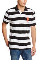 U.S. Polo Assn. Men's Striped Polo Shirt with Big Pony Logo