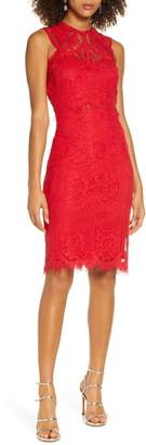 Lulus Sweetness Lace Cocktail Sheath Dress