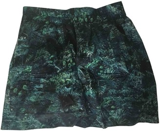 Surface to Air Turquoise Cotton Skirt for Women
