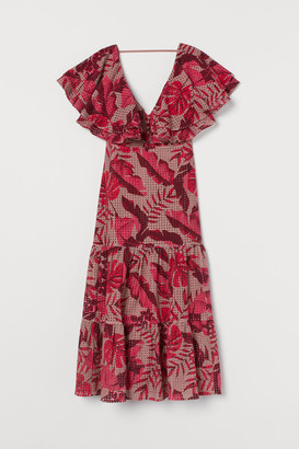 H&M Eyelet Embroidered Dress - Pink