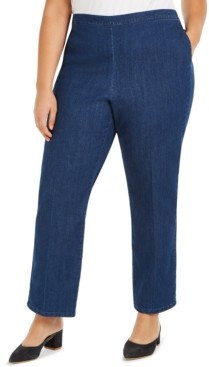 Alfred Dunner Plus Size Petal Pushers Denim Pull On Pants