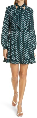 Ted Baker Rocoo Long Sleeve Floral Print Minidress