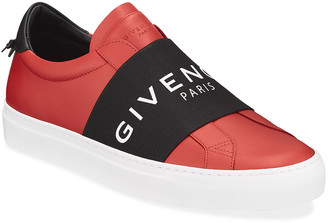 Givenchy Men's Urban Street Elastic Slip-On Sneakers, Red/Black