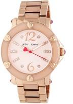 Betsey Johnson Women's Textured Dial Epoxy Link Bracelet Watch, 41mm