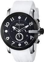 Mulco Unisex MW3-12239-015 Ilusion Roll Analog Display Swiss Quartz White Watch