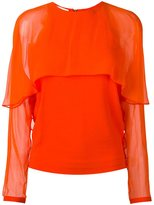 Antonio Berardi sheer panel blouse - women - Spandex/Elastane/Rayon - 38
