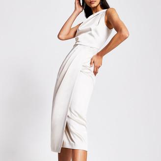 River Island Silver double strap midi dress