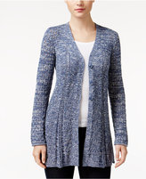 Style&Co. Style & Co Petite Pointelle Flare-Hem Cardigan, Only at Macy's
