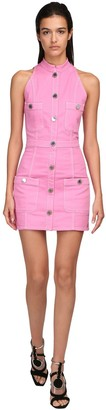 Balmain Cotton Denim Mini Dress