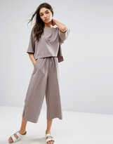 NATIVE YOUTH Relaxed Wide Leg Cropped Pants Co-Ord