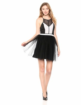 BCBGeneration Women's Tulle Color Block Dress