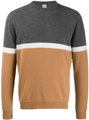 Eleventy colour-block sweater