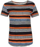 Full Circle Womens Stripe Swing T Shirt Tee Top Lightweight Short Sleeve