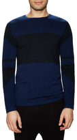 Helmut Lang Colorblock Intarsia Crewneck Sweater