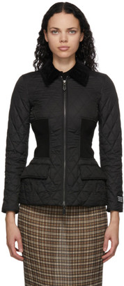 Burberry Black Quilted Pettaugh Jacket