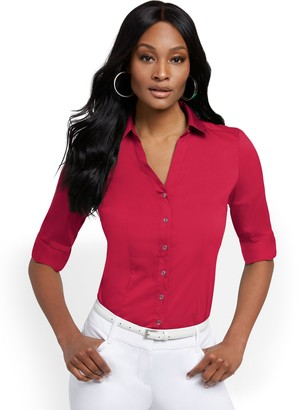 New York & Co. Madison Stretch Shirt - Secret Snap - 7th Avenue
