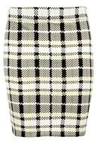 Select Fashion Fashion Womens Yellow Lime Check Mini Skirt - size 8