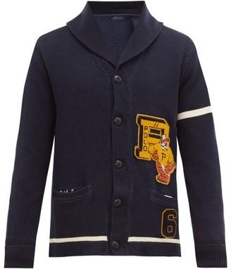 Polo Ralph Lauren Tiger-applique Cotton Cardigan - Mens - Navy
