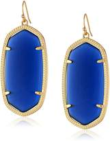 Kendra Scott Gold and Navy Cat's Eye Danielle Drop Earrings