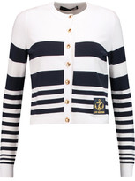 Love Moschino Striped Fine-Knit Cardigan