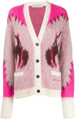 Golden Goose Intarsia Knit Cardigan
