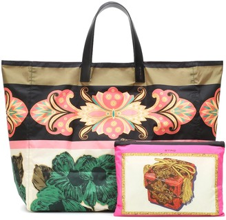 Etro Printed packable tote