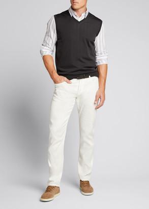 Loro Piana Men's Gilet Wish Wool V-Neck Sweater Vest