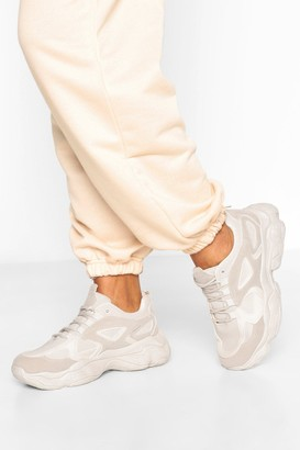 boohoo Chunky Sole Panelled Sneakers