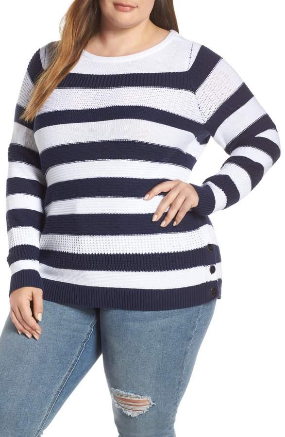 Caslon Side Button Cotton Sweater